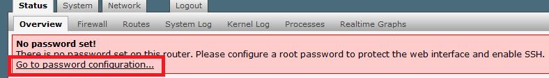 смены пароля openwrt admin password luci 2