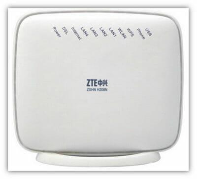 Модем ZTE ZXHN H208N