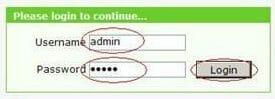 Вводим логин и пароль