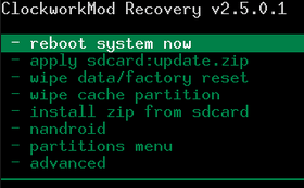 ClockworkMod сброс настрое на роутере ZTE