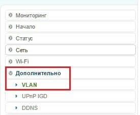 Дополнительные настройки VLAN d link dir 300