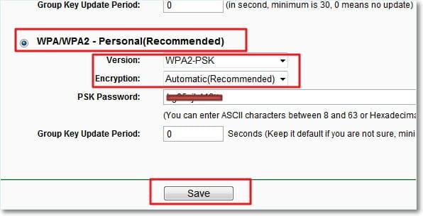 Смена пароля на wifi  TP-Link TL-WR841N