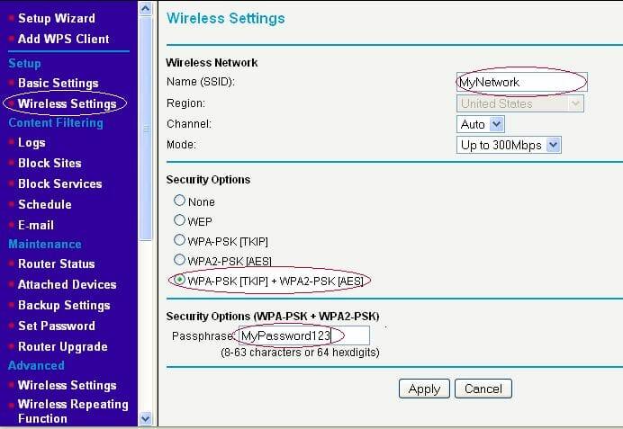 Выбор канала wifi на роутере Netrear